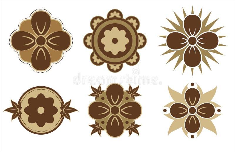 Dispositivos da flor ilustração stock