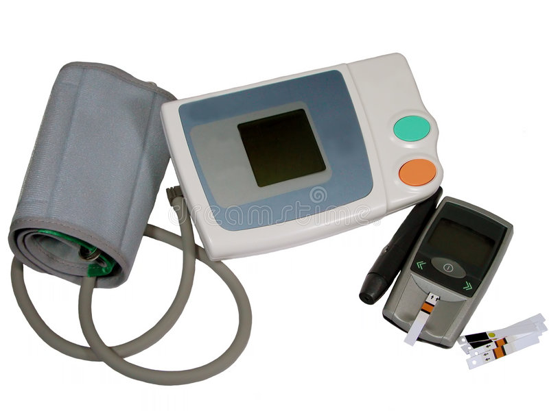 Dispositivos da monitoração do auto fotografia de stock