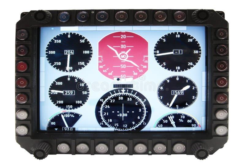 Dispositivos da navegação da aviação fotografia de stock