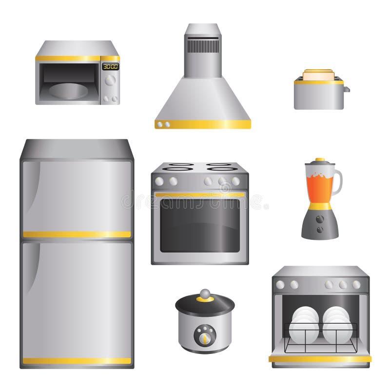 Dispositivos de cozinha ilustração stock