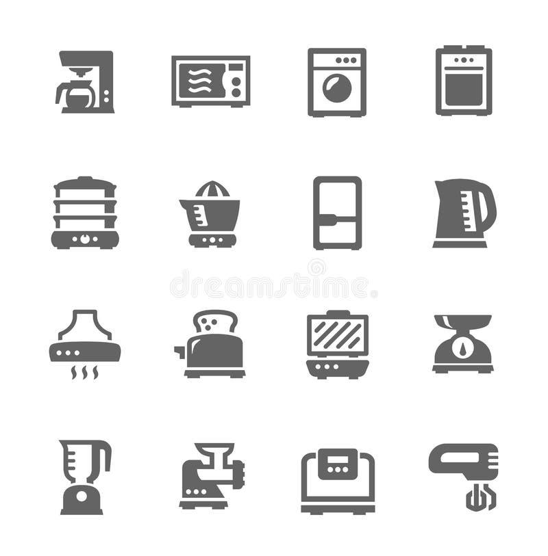 Dispositivos de cozinha ilustração royalty free