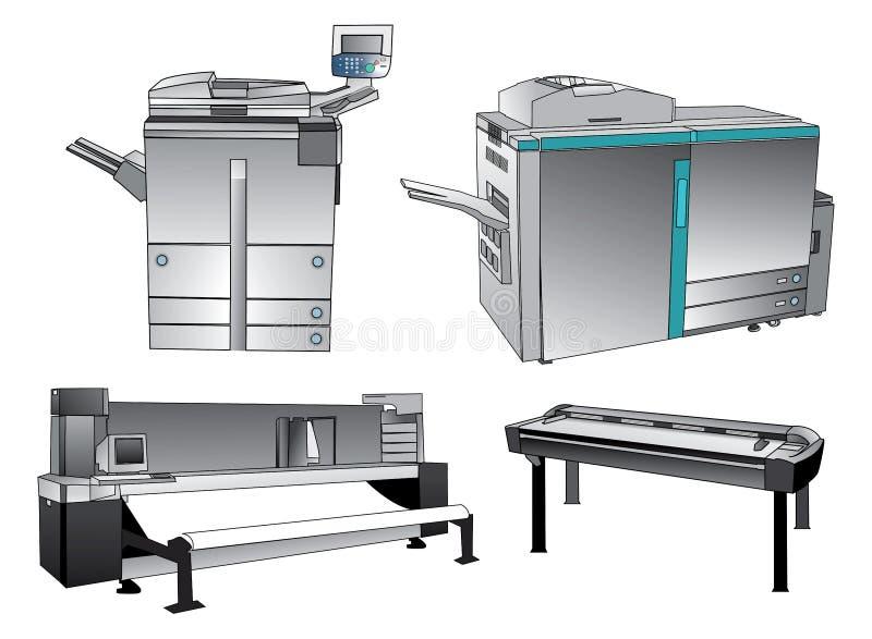 Dispositivos de impresión de Digitaces fotos de archivo