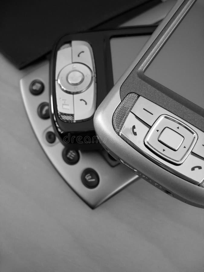 Dispositivos de PDA fotografía de archivo libre de regalías