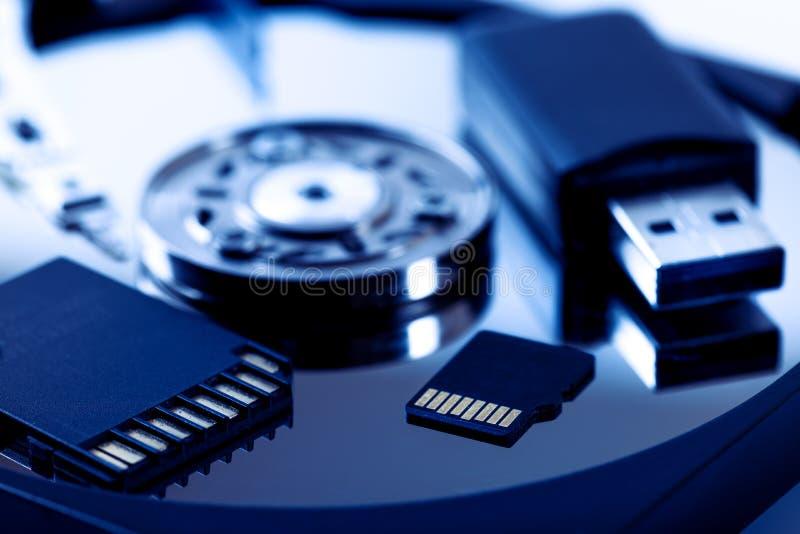 Dispositivos do armazenamento de dados  fotos de stock royalty free