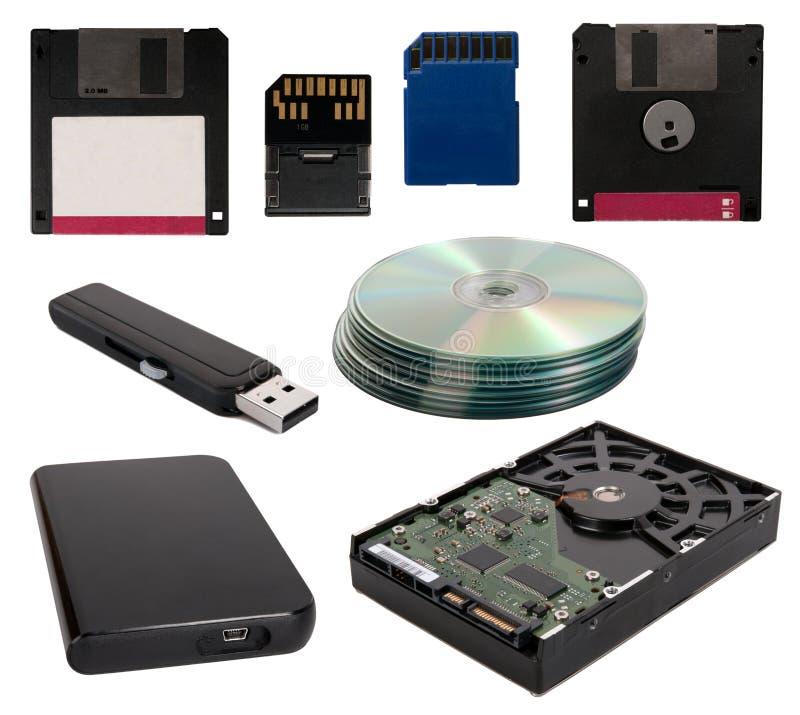 Dispositivos do armazenamento de dados  fotos de stock