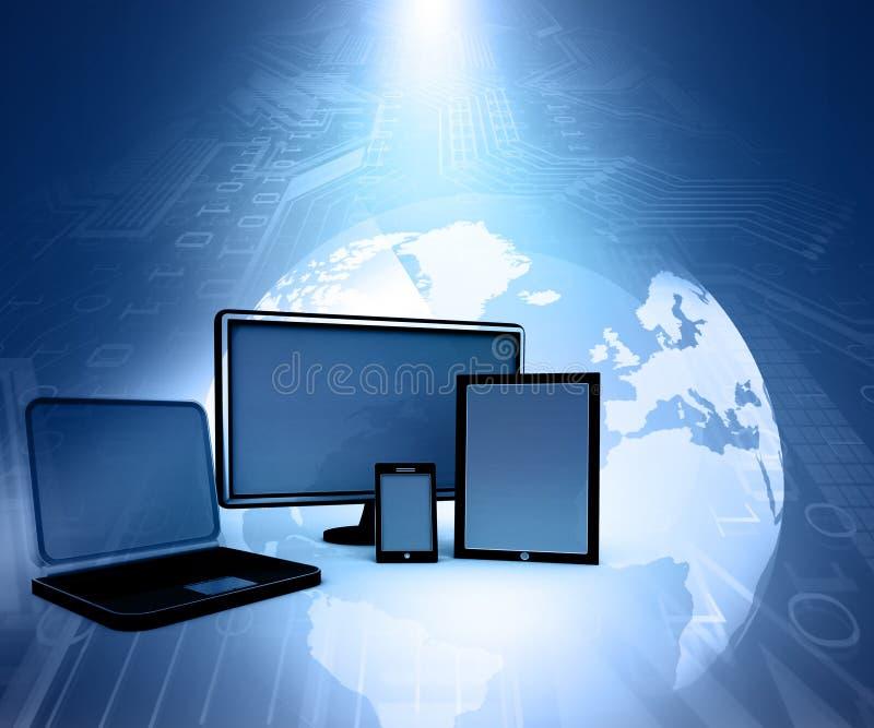 Dispositivos do computador ilustração stock