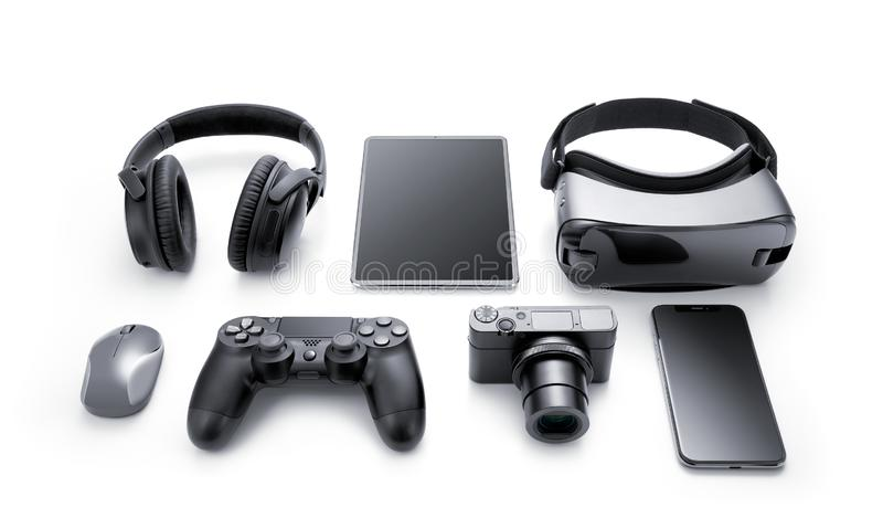 Dispositivos e acessórios imagem de stock