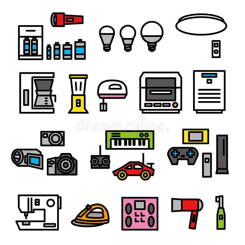 Dispositivos eléctricos 02 ilustración del vector