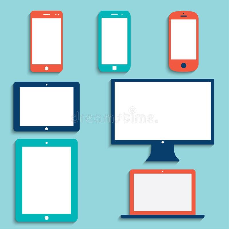 Dispositivos eletrónicos ilustração do vetor