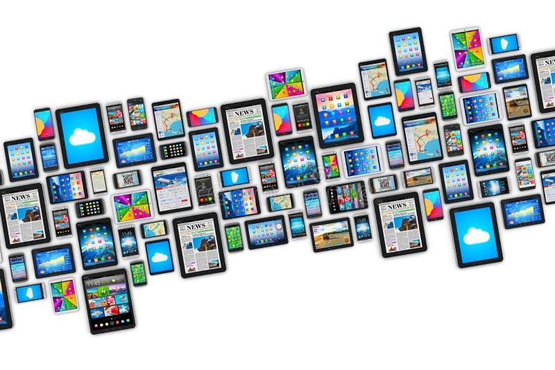 Dispositivos móviles ilustración del vector
