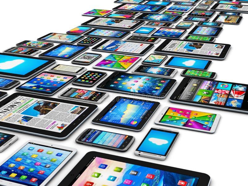 Dispositivos móviles stock de ilustración