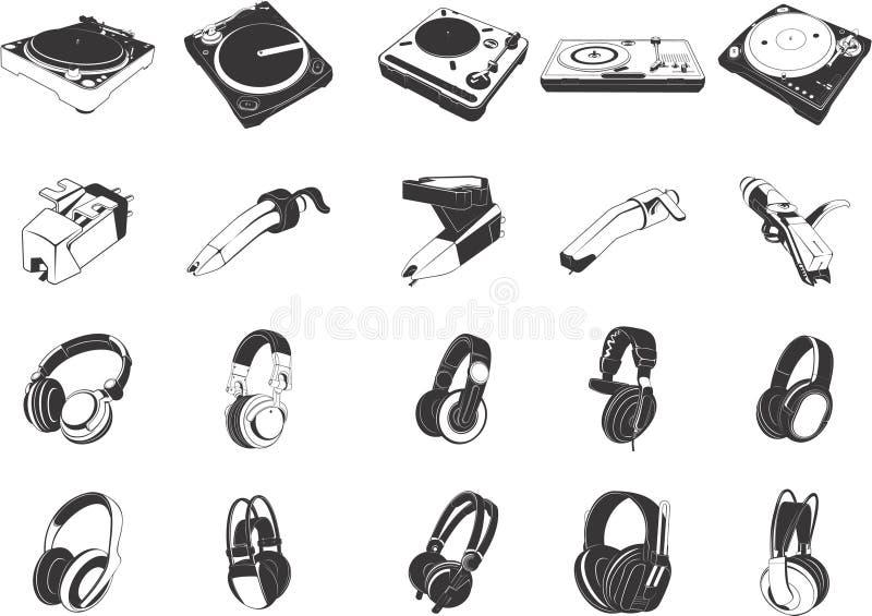 Dispositivos musicais ilustração royalty free