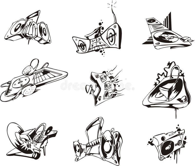 Dispositivos musicales libre illustration