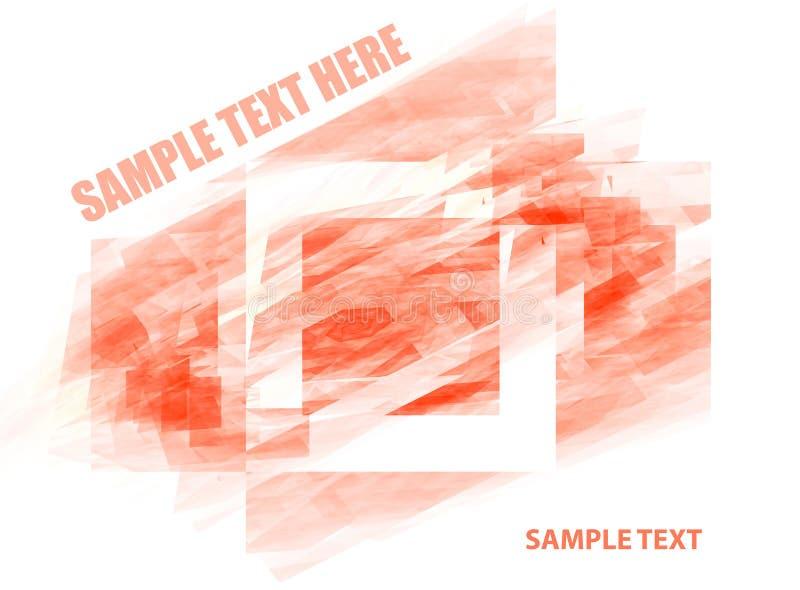 Disposizione con il quadrato rosso illustrazione di stock