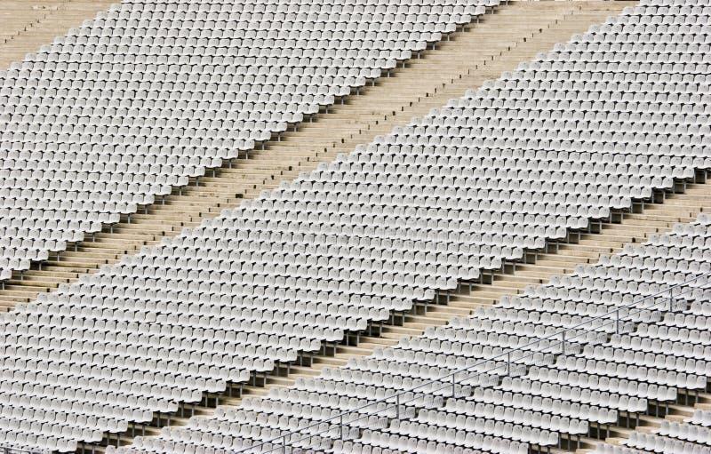 Disposizione dei posti a sedere vuota dello stadio immagini stock libere da diritti