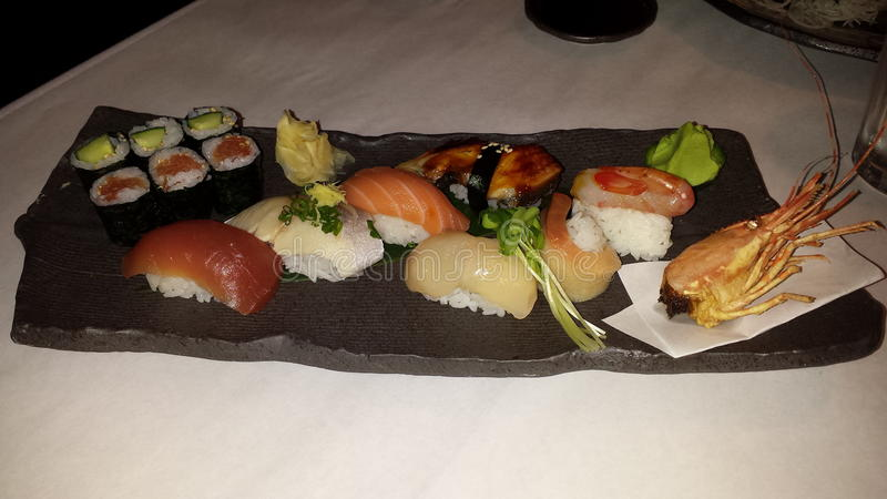 Disposizione dei sushi fotografia stock