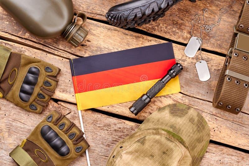 Disposizione del piano degli elementi del soldato dell'esercito di Deutsch fotografia stock libera da diritti