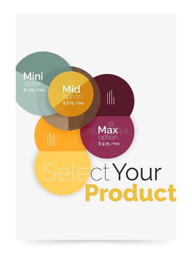 Disposizione di affari - selezioni il vostro prodotto con le opzioni del campione royalty illustrazione gratis