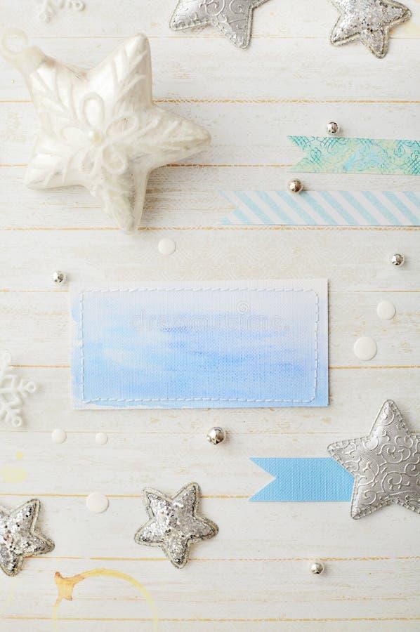 Disposizione di cartolina di Natale fotografia stock