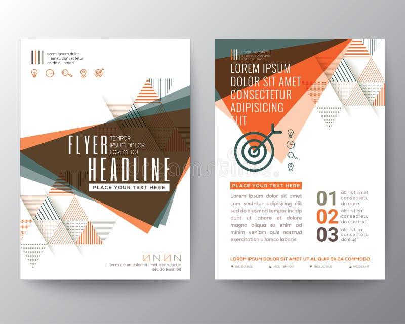 Disposizione di progettazione astratta dell'aletta di filatoio dell'opuscolo del manifesto di forma del triangolo royalty illustrazione gratis
