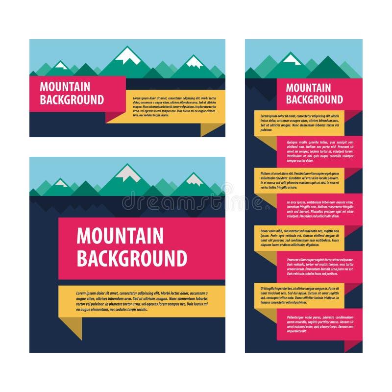 Disposizione di pubblicità del modello delle montagne illustrazione vettoriale