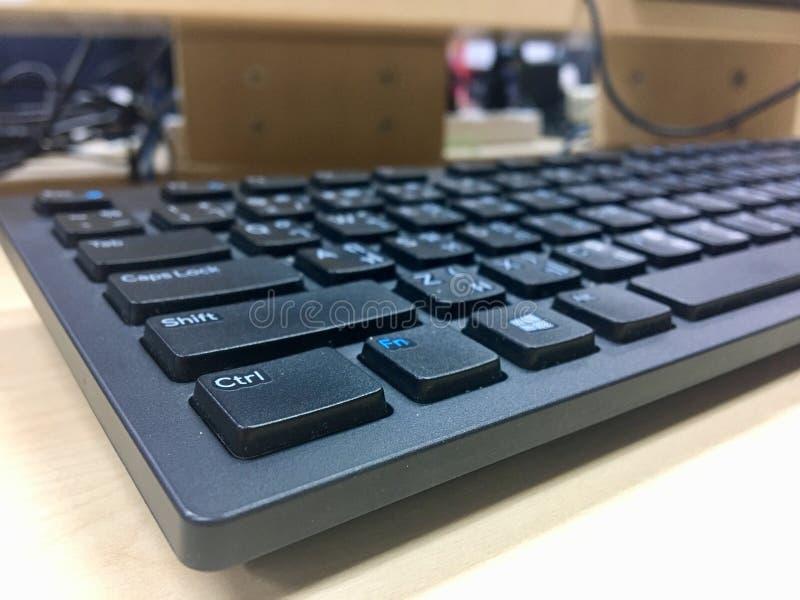 Disposizione di tastiera all'ufficio fotografie stock libere da diritti
