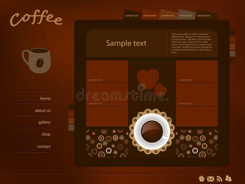 Disposizione di Web del caffè illustrazione di stock