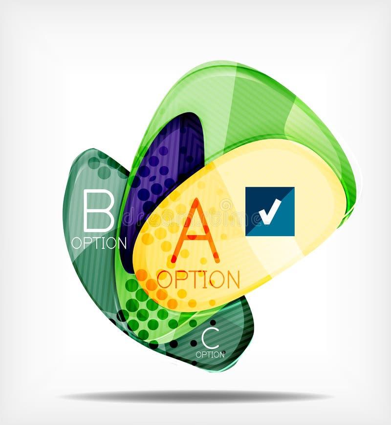 Disposizione infographic di presentazione di opzione royalty illustrazione gratis