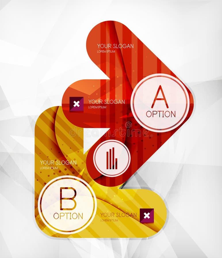 Disposizione infographic moderna di opzione illustrazione di stock