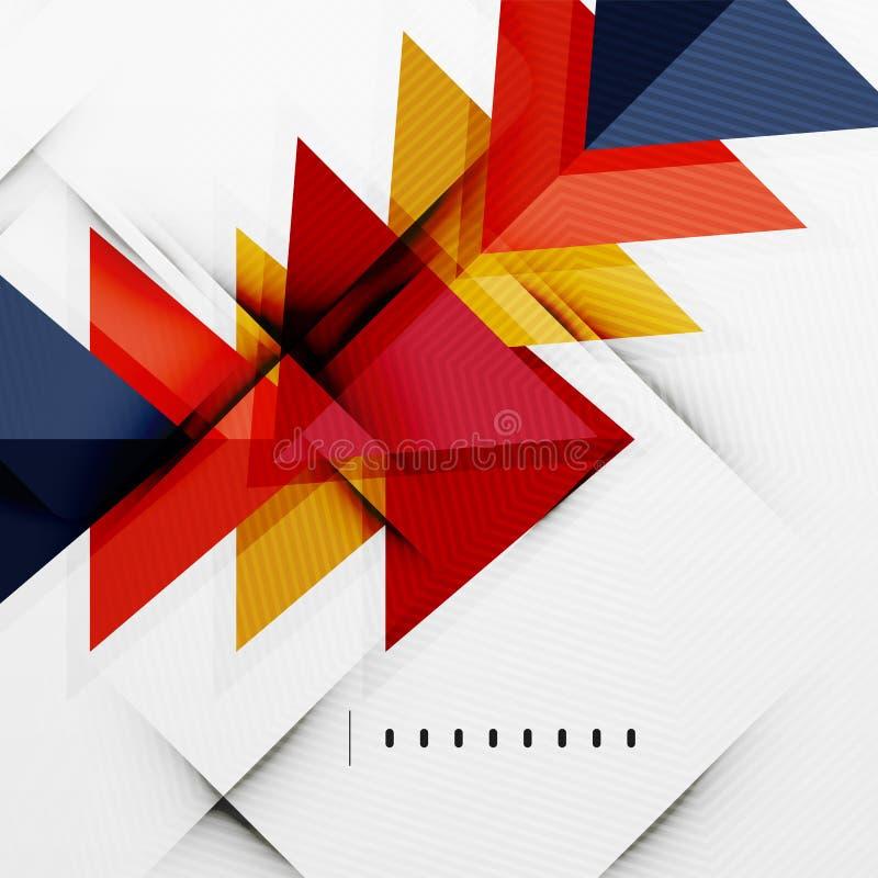 Disposizione lucida moderna di affari dei triangoli illustrazione di stock