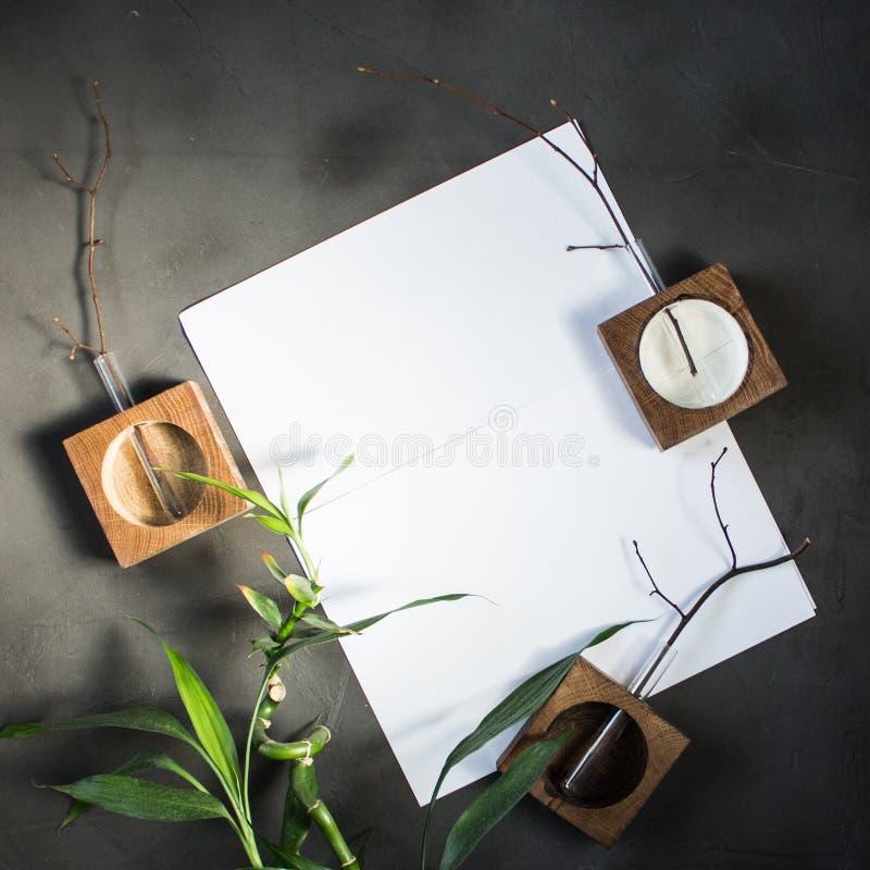 Disposizione piana per dipingere immagini stock