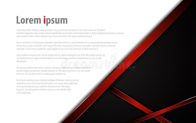 Disposizione rossa moderna astratta del fondo di concetto di sport di tecnologia del modello della struttura illustrazione di stock