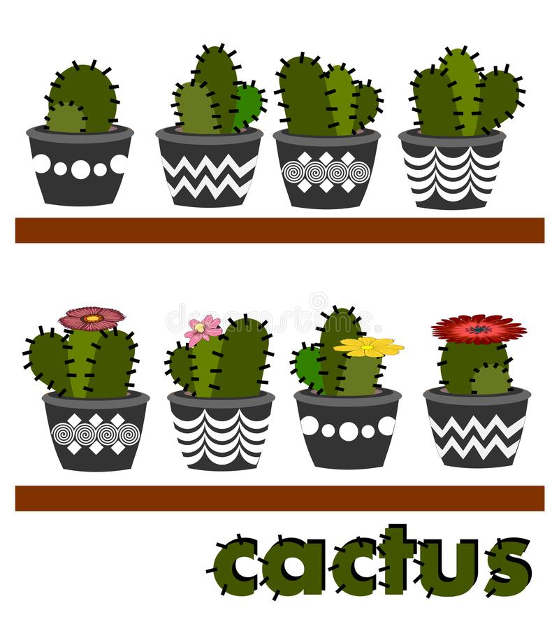 Disposizioni del cactus royalty illustrazione gratis