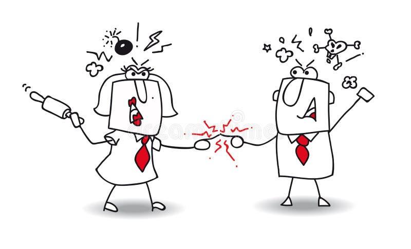 disputa ilustração do vetor