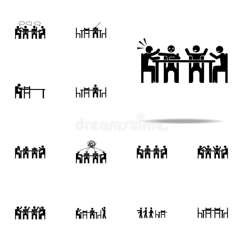 disputa de assento, ícone da luta Grupo universal de assento dos ícones dos povos para a Web e o móbil ilustração royalty free