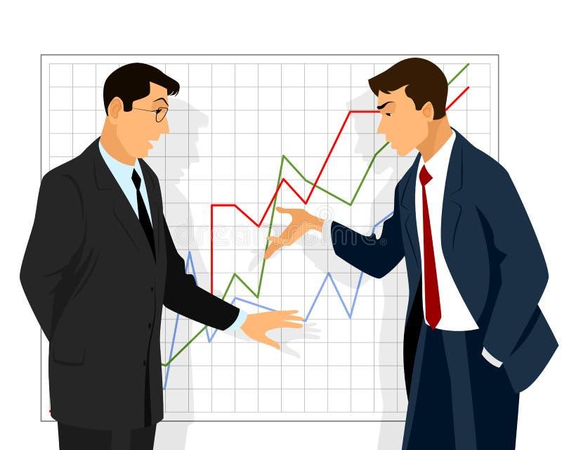 Disputa de dois homens de negócios ilustração royalty free