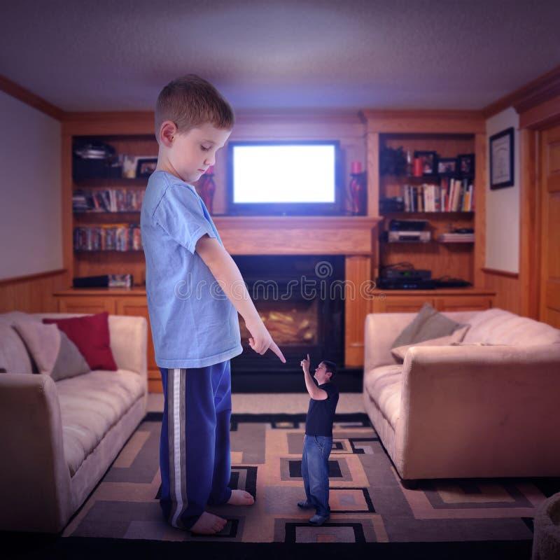 Disputa de família da televisão fotografia de stock royalty free