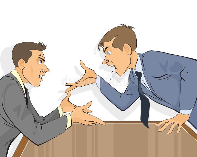Disputa do homem de negócios no escritório ilustração do vetor