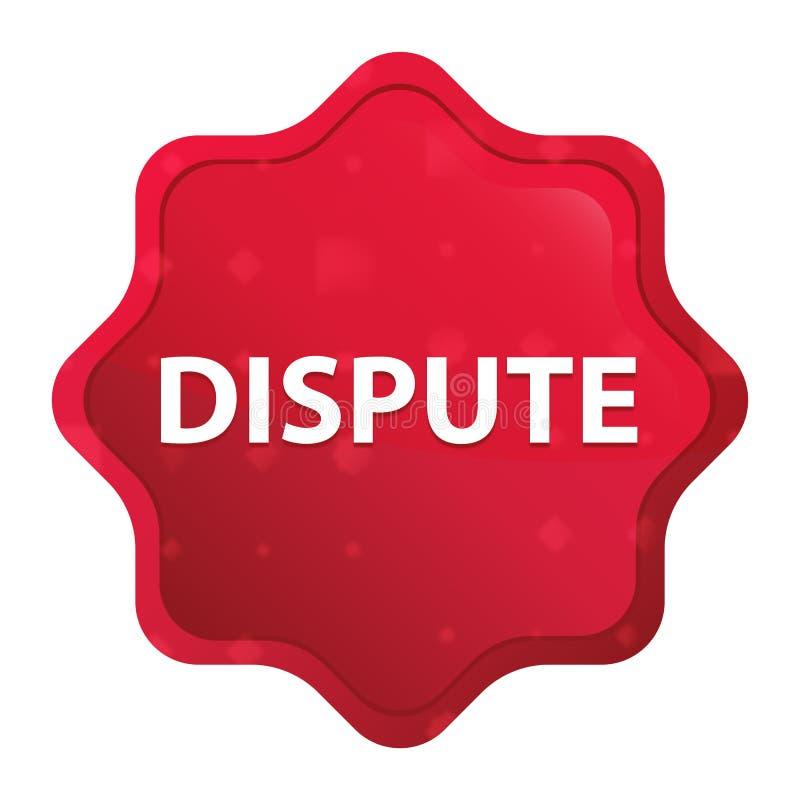 A disputa enevoada aumentou botão vermelho da etiqueta do starburst ilustração stock