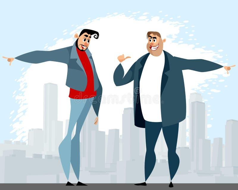 Disputa entre dois homens ilustração royalty free