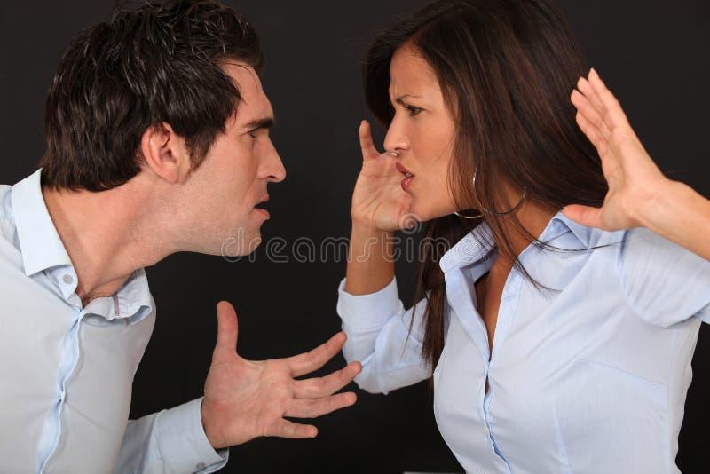 Disputa violenta dos pares fotografia de stock royalty free