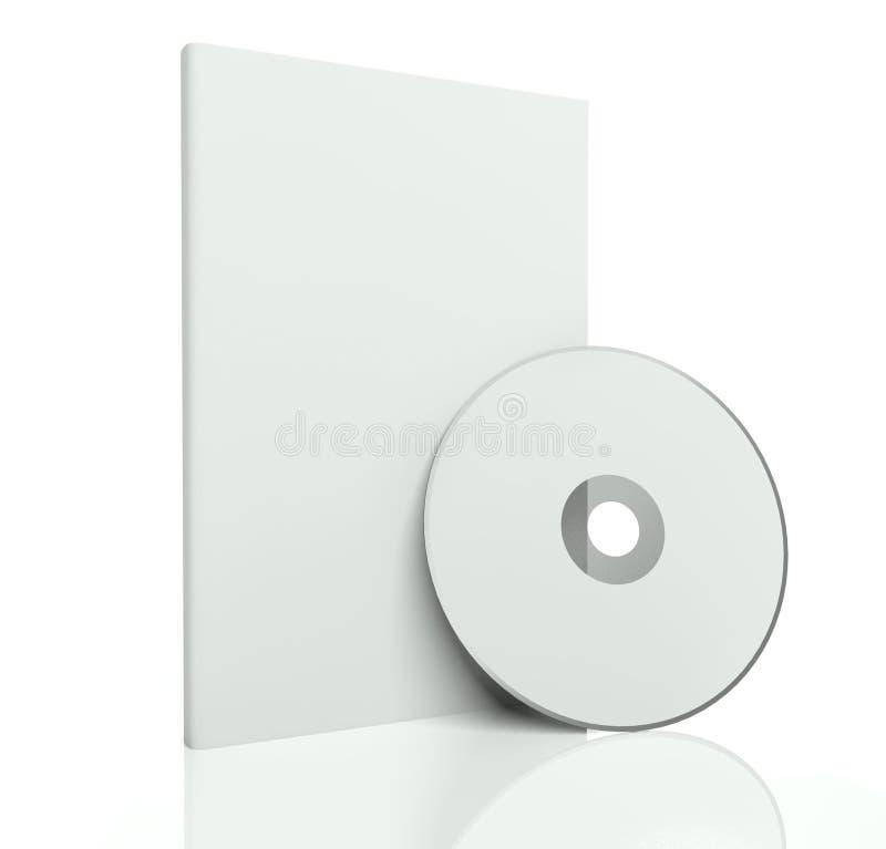 disque blanc du cadre 3d et du Cd ou du dvd illustration de vecteur