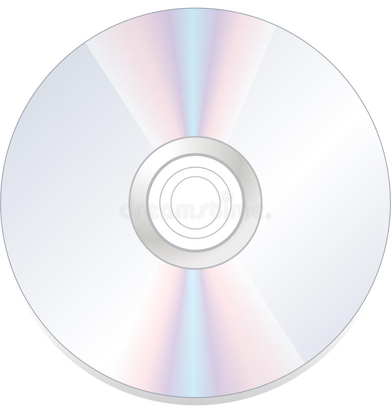 Disque compact-ROM de dvd de disque d'isolement illustration stock
