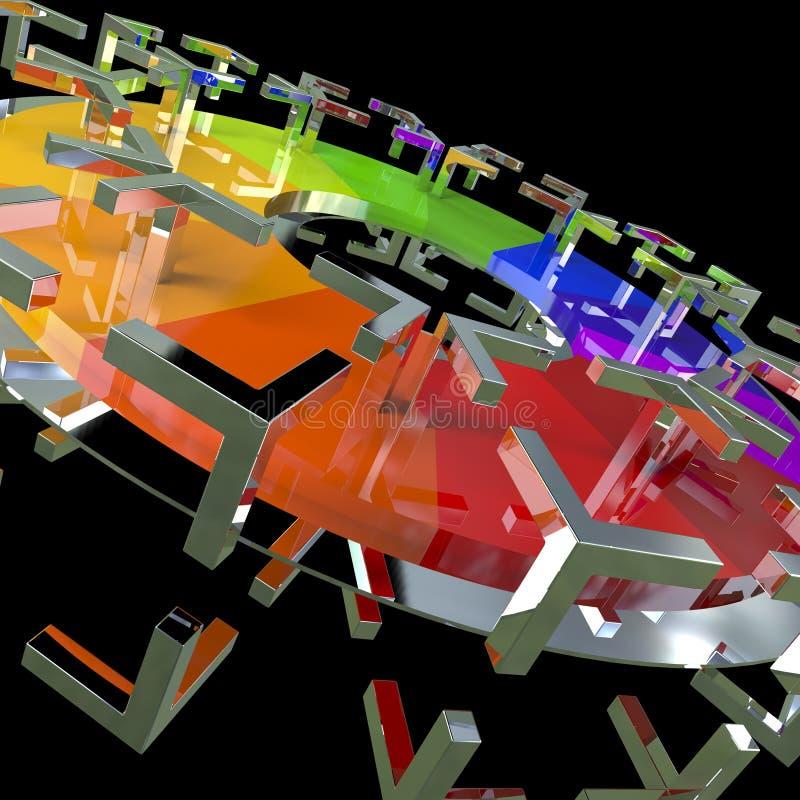 Disque d'arc-en-ciel de couleur illustration stock