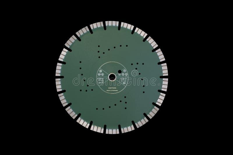 Disque de coupe avec des diamants - disque de diamant pour le béton d'isolement image libre de droits
