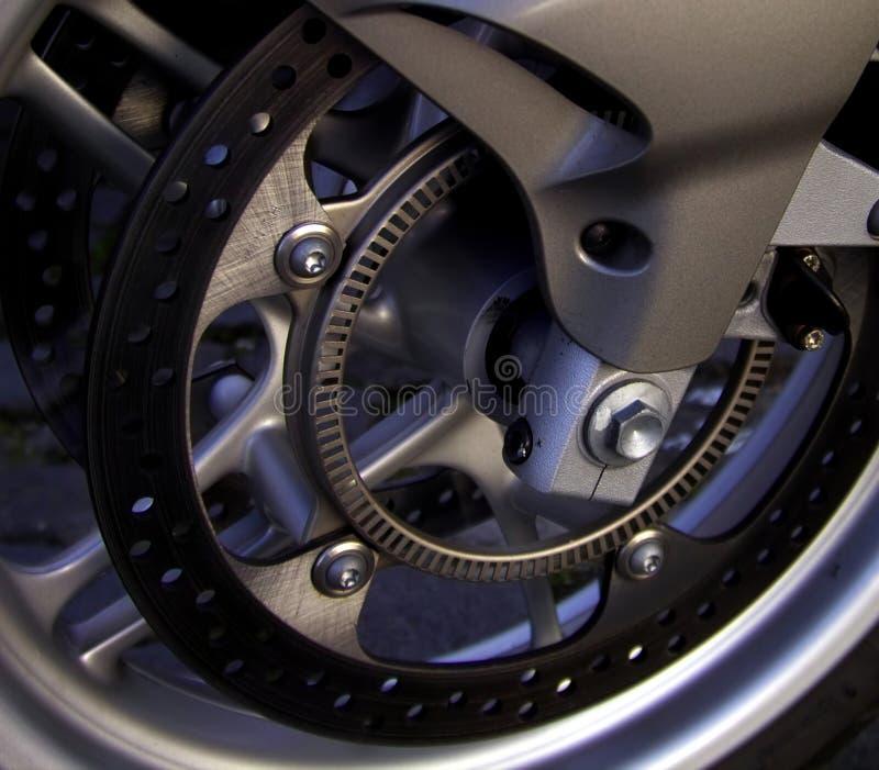 Disque de frein de moto de groupe photographie stock libre de droits