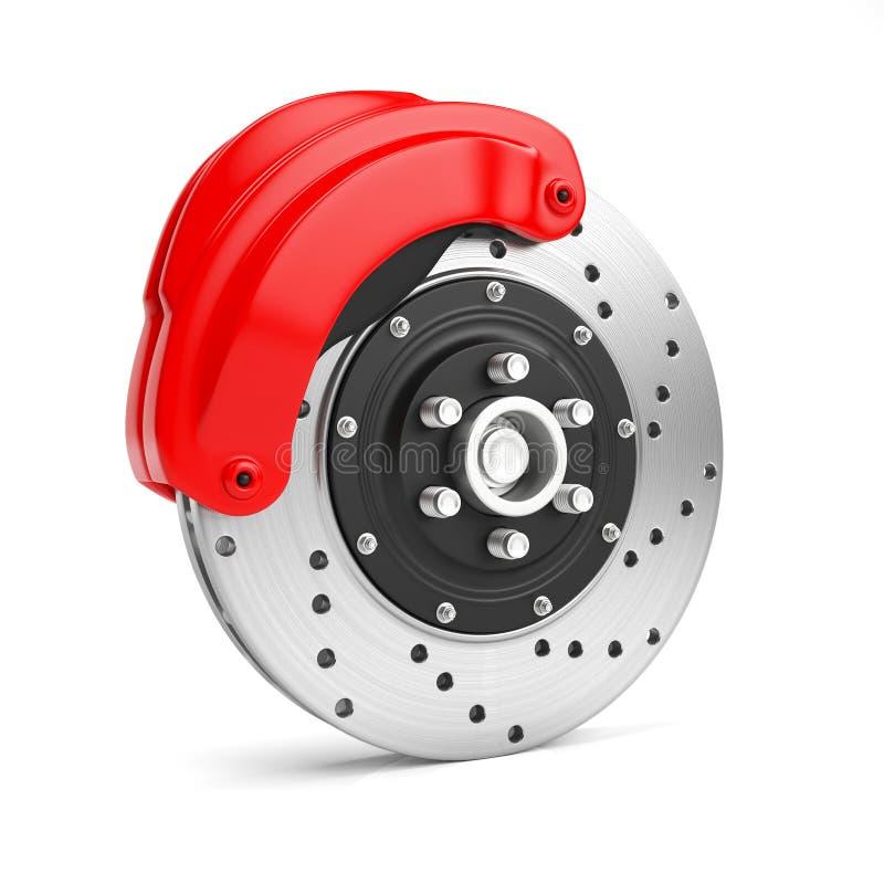 disque de frein sur un fond blanc illustration stock illustration du rouge sports 56837027. Black Bedroom Furniture Sets. Home Design Ideas