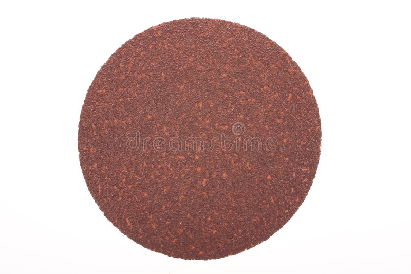 Disque de papier sablé brun images stock