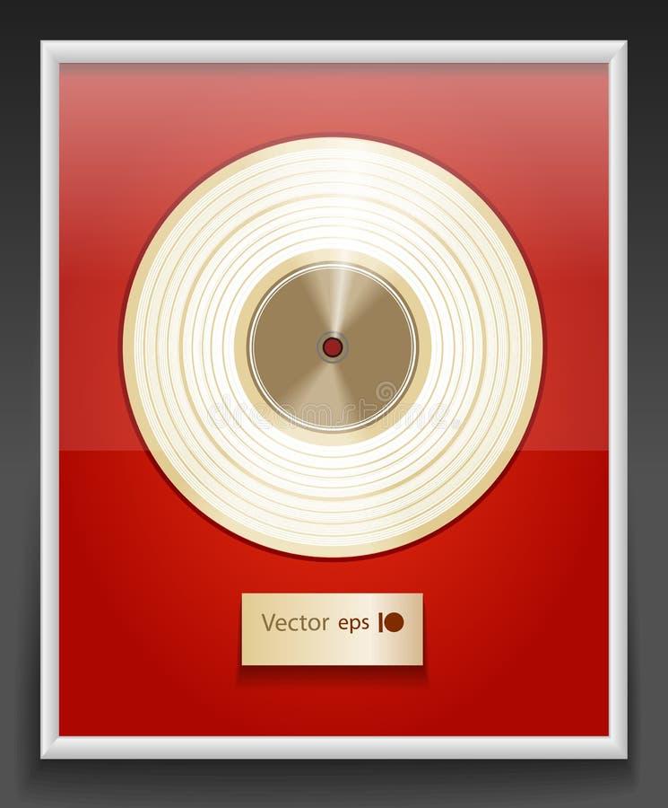 Disque de platine illustration de vecteur