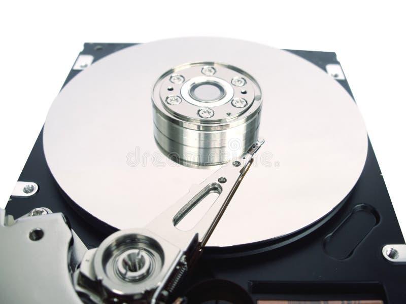 Disque dur d'ordinateur avec le cache ouvert image stock